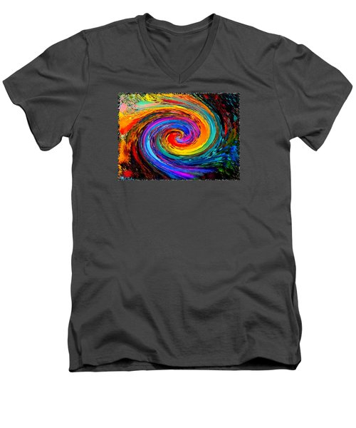 The Hurricane - Abstract Men's V-Neck T-Shirt by Michael Rucker