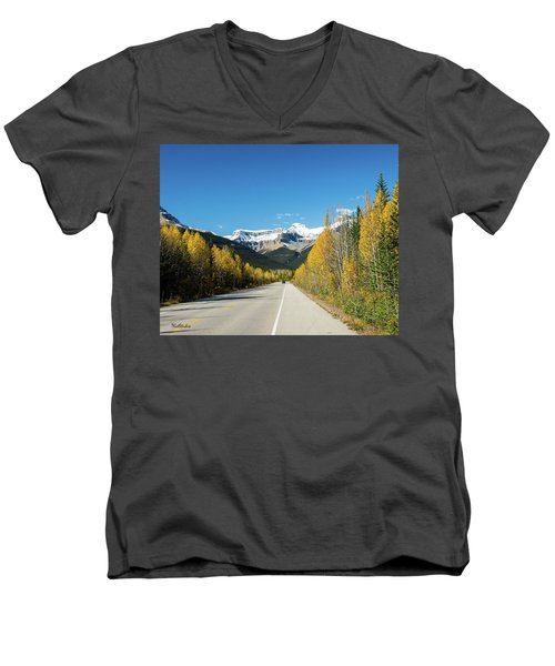 The Icefields Parkway Men's V-Neck T-Shirt