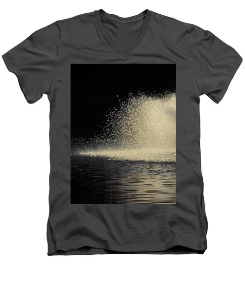 The Illusion Of Dark And Light With Water Men's V-Neck T-Shirt