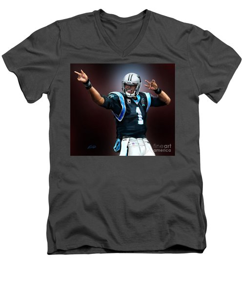 The Inevitable Cam Newton1 Men's V-Neck T-Shirt