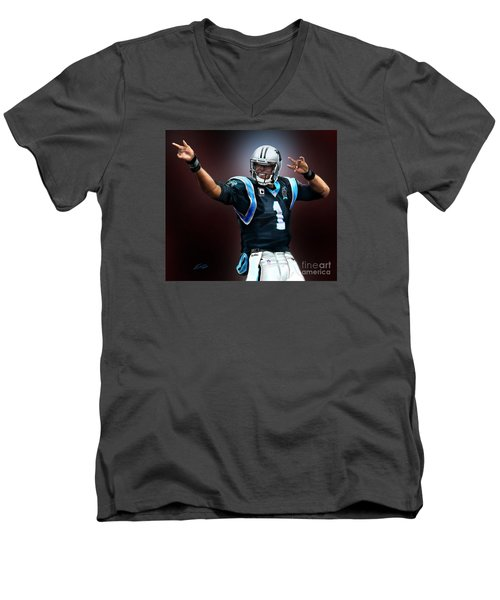 The Inevitable Cam Newton1 Men's V-Neck T-Shirt