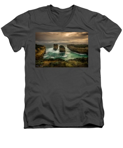 The Inlet Men's V-Neck T-Shirt by Andrew Matwijec