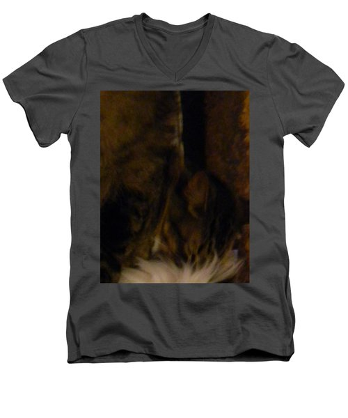 The Inn Creeper And His Pet Men's V-Neck T-Shirt
