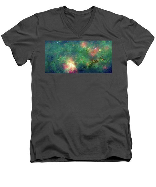 Men's V-Neck T-Shirt featuring the photograph The Invisible Dragon by NASA JPL-Caltech