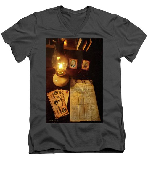 Men's V-Neck T-Shirt featuring the photograph The Invitation by Mark Allen