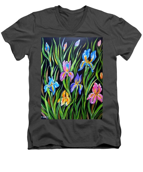 The Irises Men's V-Neck T-Shirt
