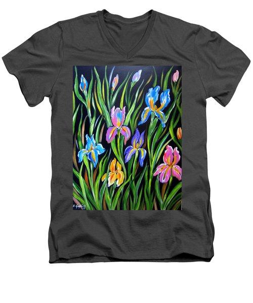 The Irises Men's V-Neck T-Shirt
