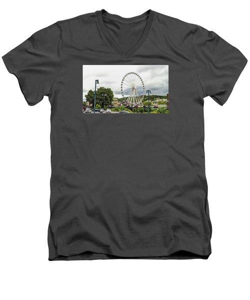 The Island Smoky Mountain Wheel Men's V-Neck T-Shirt