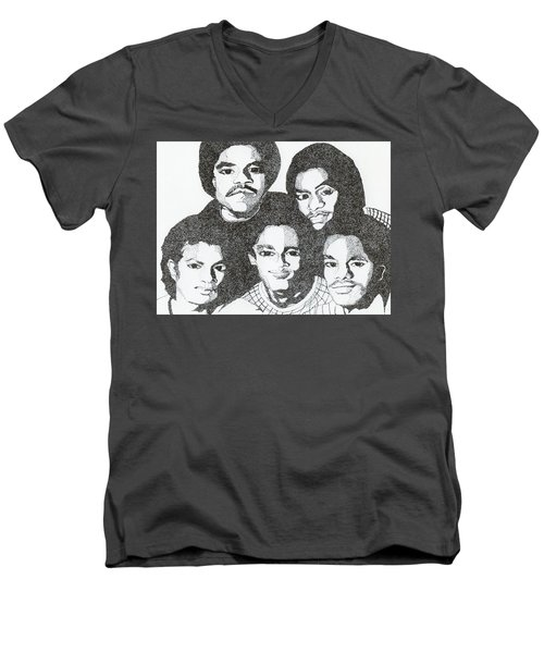 The Jacksons Tribute Men's V-Neck T-Shirt