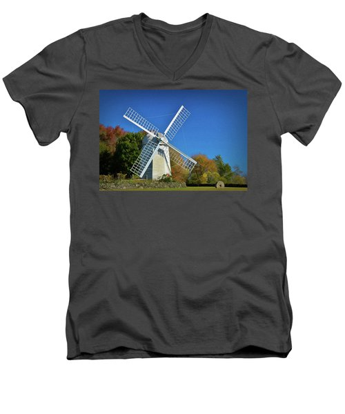 The Jamestown Windmill Men's V-Neck T-Shirt