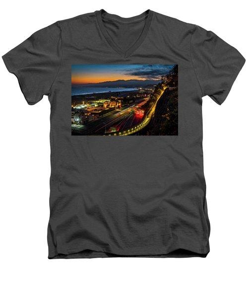 The Jonathan Beach Club - Night  Men's V-Neck T-Shirt
