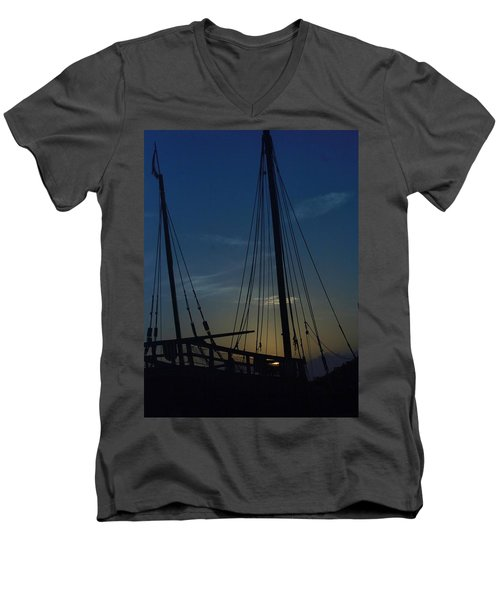 Men's V-Neck T-Shirt featuring the photograph The Journey Began by John Glass