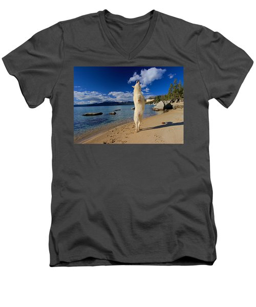 The Joy Of Being Well Loved Men's V-Neck T-Shirt by Sean Sarsfield