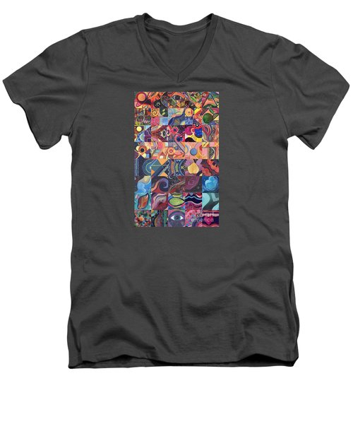 The Joy Of Design First 40 Variation 1 Men's V-Neck T-Shirt