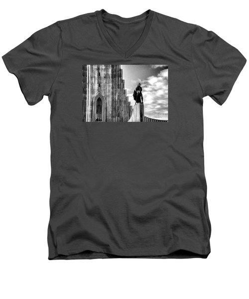The Leader Of Light Men's V-Neck T-Shirt by Rick Bragan