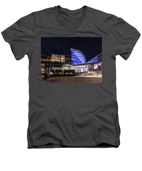 Men's V-Neck T-Shirt featuring the photograph The Kentucky Center For The Performing Arts by Randy Scherkenbach