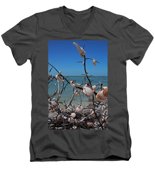 Men's V-Neck T-Shirt featuring the photograph The Kindness by Michiale Schneider