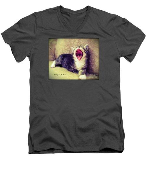 The  King Of Beast Men's V-Neck T-Shirt