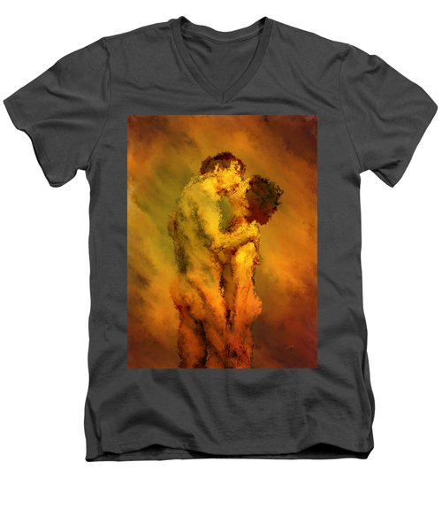 The Kiss Men's V-Neck T-Shirt