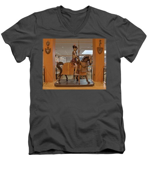 The Knight On Horseback Men's V-Neck T-Shirt