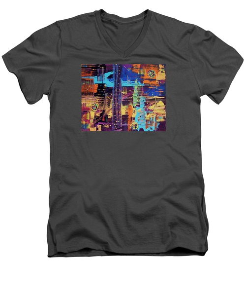 The La Sky On The 4th Of July Men's V-Neck T-Shirt