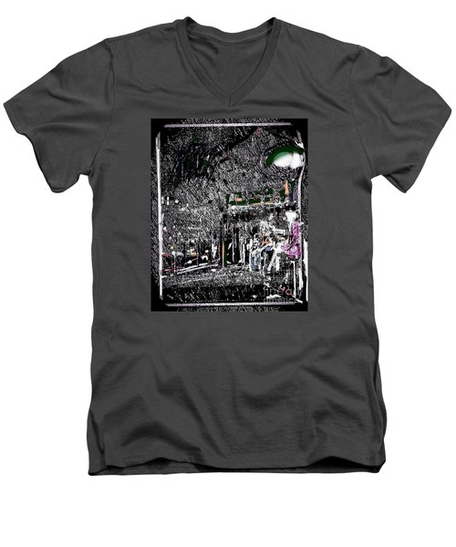 The Lady In The Bus Stop Men's V-Neck T-Shirt