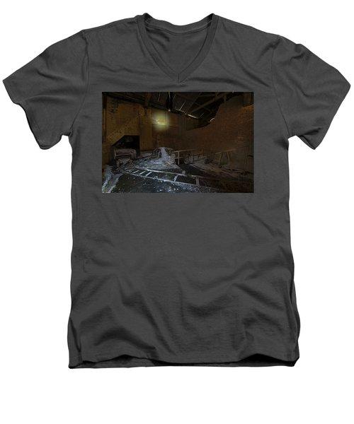 The Lamp Of The Abandoned Furnace Quarry  Men's V-Neck T-Shirt