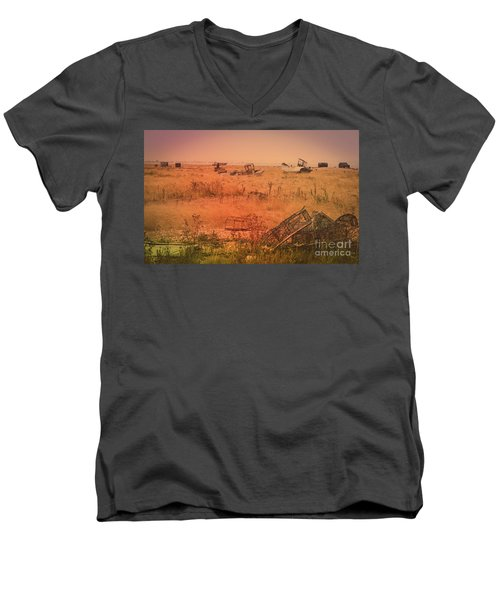 The Landscape Of Dungeness Beach, England 2 Men's V-Neck T-Shirt