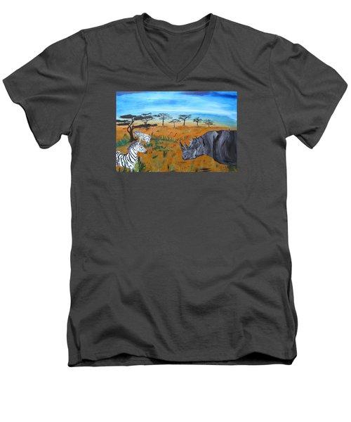 The Last Black Men's V-Neck T-Shirt