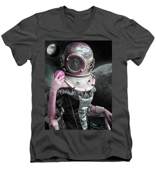 The Last Eve  Men's V-Neck T-Shirt by Mihaela Pater