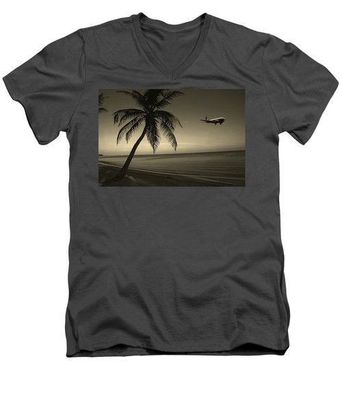 The Last Flight Out Men's V-Neck T-Shirt