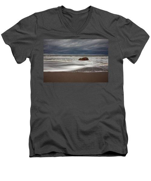 The Last Holdout Men's V-Neck T-Shirt by Mark Alder
