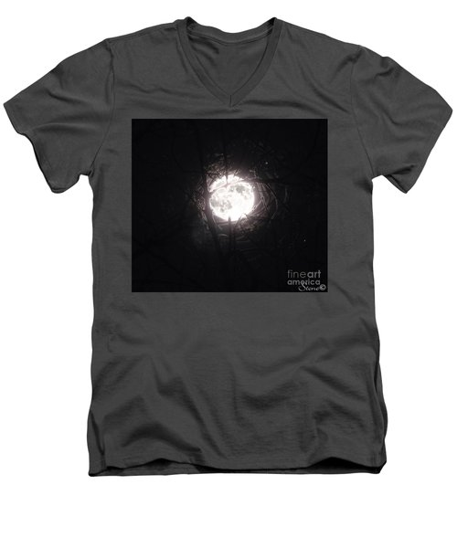 The Last Nights Moon Men's V-Neck T-Shirt