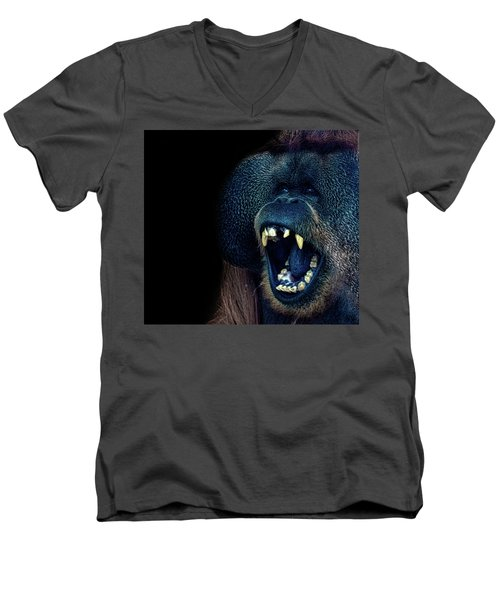 The Laughing Orangutan Men's V-Neck T-Shirt