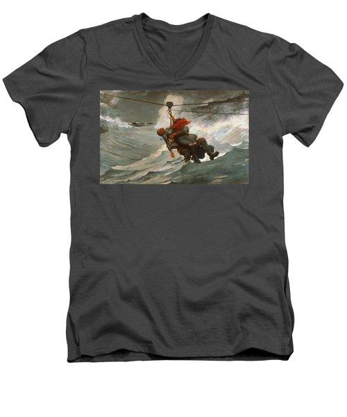 The Life Line Men's V-Neck T-Shirt