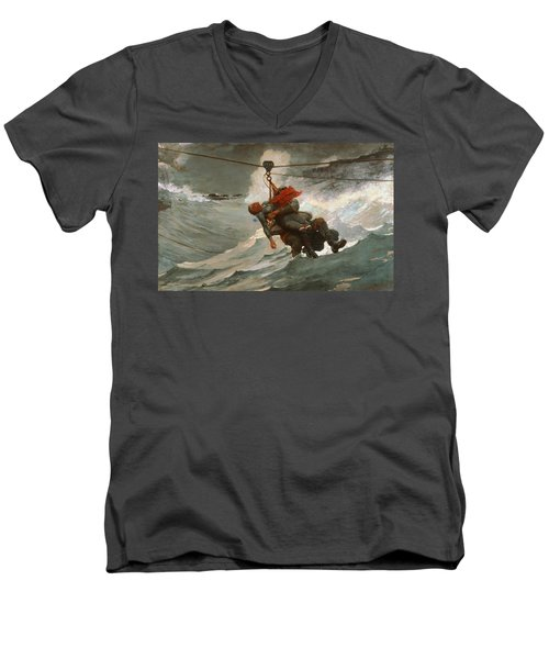The Life Line Men's V-Neck T-Shirt