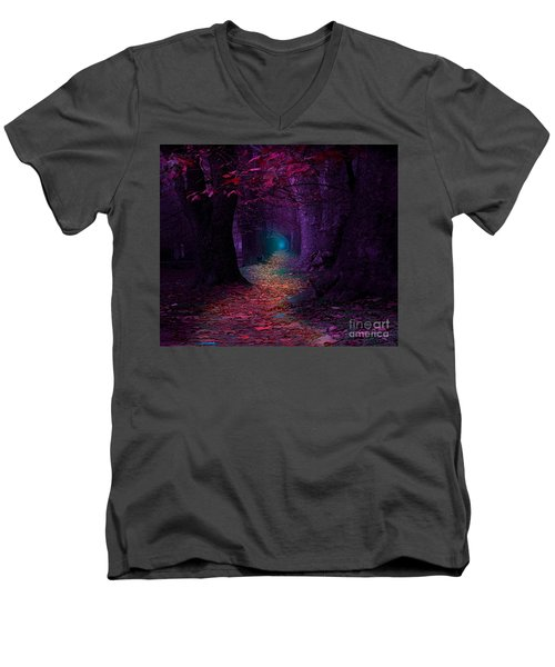 The Light At The End Men's V-Neck T-Shirt by Rod Jellison