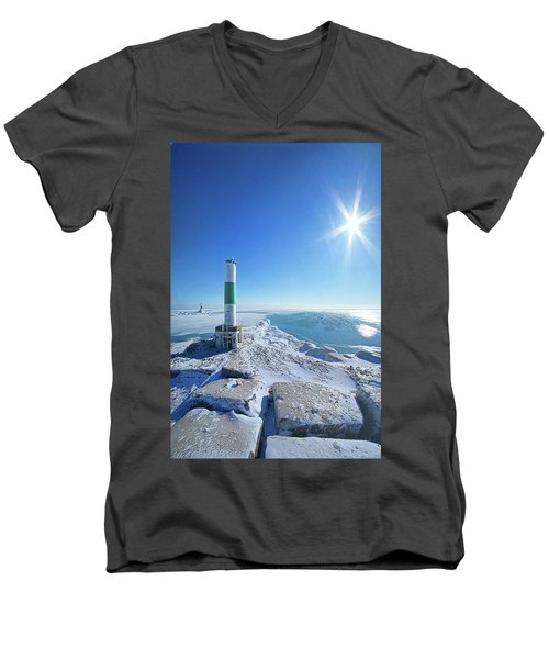 Men's V-Neck T-Shirt featuring the photograph The Light Keepers by Phil Koch