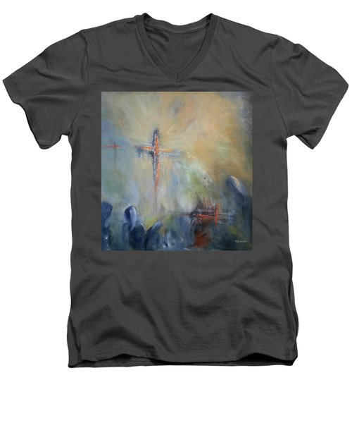 The Light Of Christ Men's V-Neck T-Shirt by Roberta Rotunda