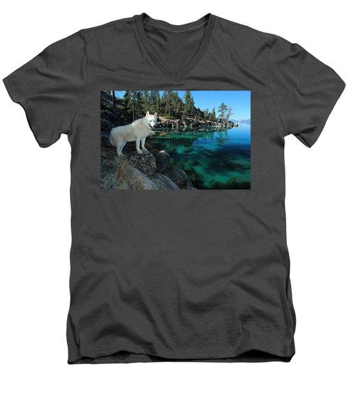 The Light Of Lake Tahoe Men's V-Neck T-Shirt