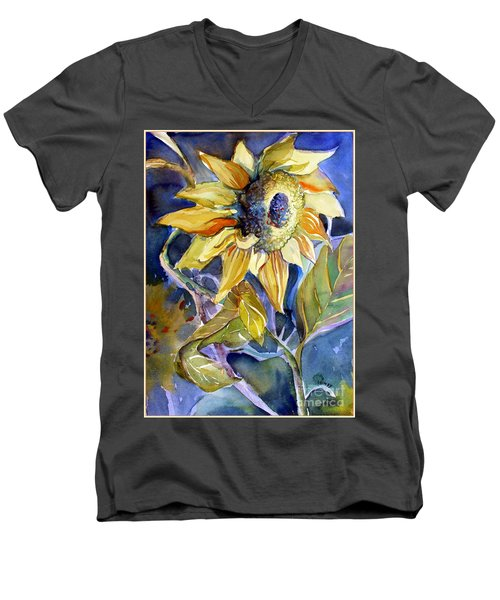 The Light Of Sunflowers Men's V-Neck T-Shirt by Mindy Newman