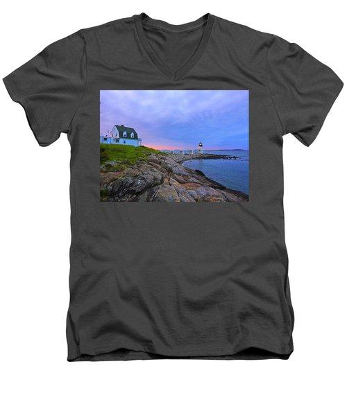 The Lighthouse Keeper Men's V-Neck T-Shirt
