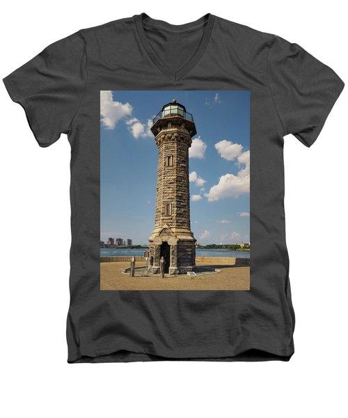 The Lighthouse Roosevelt Island Men's V-Neck T-Shirt