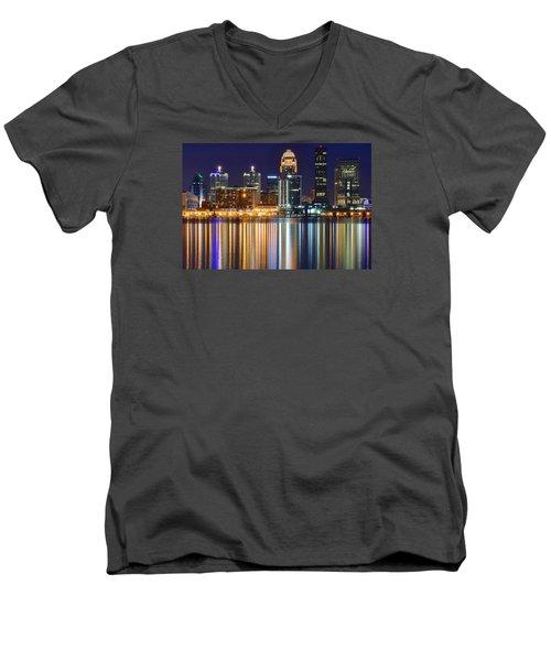 The Lights Of A Louisville Night Men's V-Neck T-Shirt