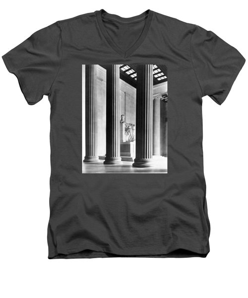 The Lincoln Memorial Men's V-Neck T-Shirt by War Is Hell Store