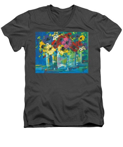The Line-up Men's V-Neck T-Shirt by Terri Einer