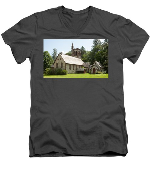 The Little Brown Church In The Vale Men's V-Neck T-Shirt by Carol Lynn Coronios