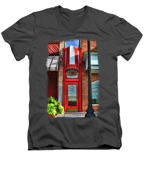 The Little Popcorn Shop In Wheaton Men's V-Neck T-Shirt