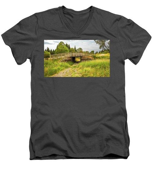 The Little Wooden Bridge Men's V-Neck T-Shirt