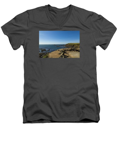 Men's V-Neck T-Shirt featuring the photograph The Lizard Point by Brian Roscorla